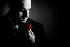 Free Black And White Portrait Of Man, Godfather-like Character. Stock Photography - 69628312