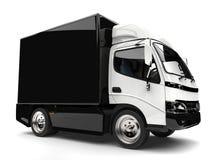 Free Black And White Small Box Truck Stock Photo - 109430940