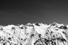 Black And White Snow Covered Mountains Royalty Free Stock Photos
