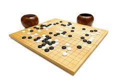 Free Black And White Tones On A Wood Board - Called Baduk, Weiqi, IGO Stock Images - 197314794