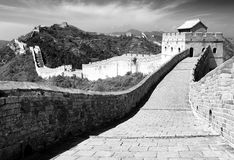 Free Black And White View Of Great Wall Stock Image - 39378891