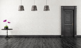 Free Black And White Vintage Room Royalty Free Stock Photo - 27477375