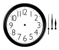 Free Black And White Wall Clock With Hands Separated Royalty Free Stock Images - 34443539