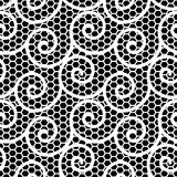 Black And White Wavy Lace Pattern Stock Images