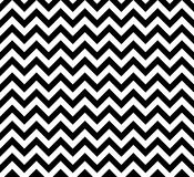 Black And White Zig Zag Seamless Vector Pattern Stock Image