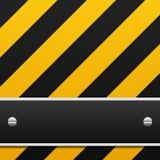 Black And Yellow Warning Background Stock Photo