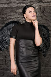 Black angel Stock Photo