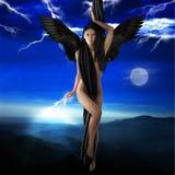 The black angel Stock Photo