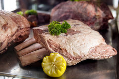 Black Angus Beef, Ribs stock images
