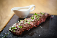 Black angus Flank steak Stock Image