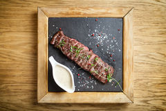Black angus Flank steak Royalty Free Stock Photo
