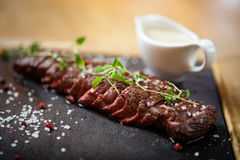 Black angus Flank steak Stock Photography