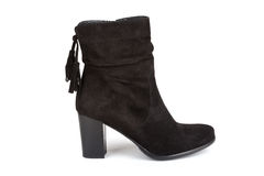 Black ankle boot Stock Image