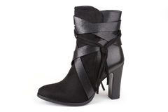Black ankle boot Royalty Free Stock Photo