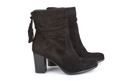 Black ankle boots Royalty Free Stock Photography
