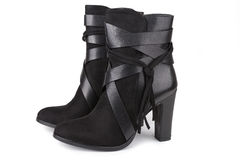 Black ankle boots Royalty Free Stock Photos