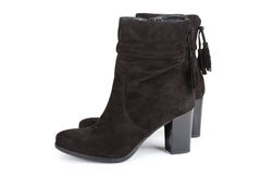 Black ankle boots Stock Photos