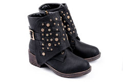 Black ankle boots Royalty Free Stock Images