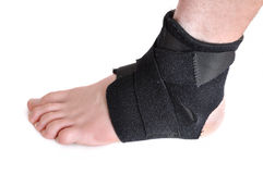 Black Ankle Brace stock photos
