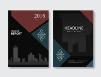 Black annual report cover Leaflet Brochure Flyer design template Royalty Free Stock Photography