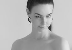 Black ans white portrait. Stock Image