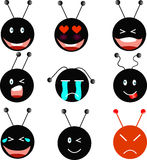 Black Ant Emotion. The Black Ant with various Emotion Stock Photo