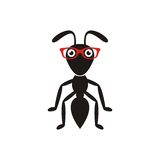 Black ant with glasses Stock Images
