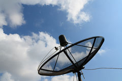Black antenna communication Royalty Free Stock Photo