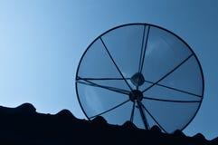 Black antenna communication Stock Image