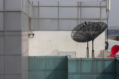 Black antenna communication Stock Image
