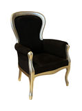 Black antique chair Royalty Free Stock Photos