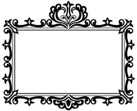 Black antique frame. An illustration of a black frame with appearance of old style engraved scroll work. EPS8 vector file also available Stock Photos