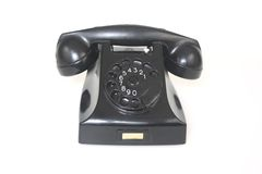 Black Antique Telephone Stock Photos