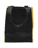 Black any yellow cotton eco bag Stock Image