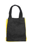Black any yellow cotton eco bag Stock Photo