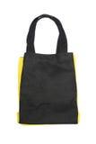 Black any yellow cotton eco bag Stock Photo