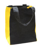 Black any yellow cotton eco bag Royalty Free Stock Photography