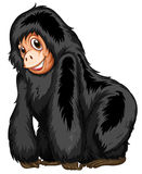 Black ape. Illustration of a closeup gorilla standing Royalty Free Stock Images