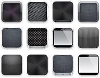 Black app icons. Stock Images