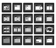 Black Application, Programming, Server and computer icons. Vector Icon Set 2 Royalty Free Stock Photography