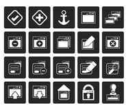 Black Application, Programming, Server and computer icons. Vector Icon Set 1 Stock Photos