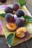 Black apricots Stock Photos