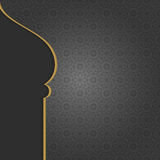 Black Arabian Islamic background Stock Photos