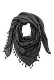Black arabic scarf isolated on white background. The black arabic scarf isolated on white background Royalty Free Stock Image