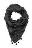 Black arabic scarf  on white background. The black arabic scarf  on white background Stock Images
