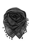 Black arabic scarf  on white background. The black arabic scarf  on white background Royalty Free Stock Images