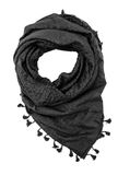 Black arabic scarf  on white background. The black arabic scarf  on white background Royalty Free Stock Photography