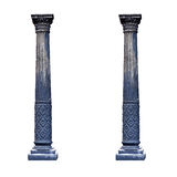 Black architectural columns isolated on white background Royalty Free Stock Photos