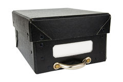 Black archive box. With empty space to write on Royalty Free Stock Photo