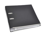 Black archive business folder. Royalty Free Stock Photography